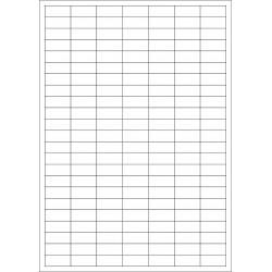 100 Planches d'étiquettes rectangulaires 24mmx12mm