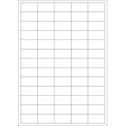 100 Planches d'étiquettes rectangulaires 38mmx21mm