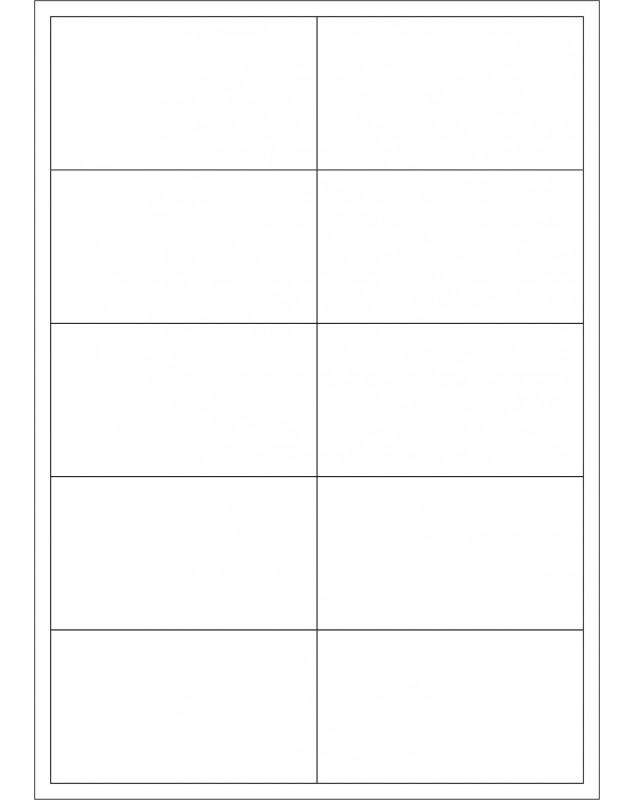 100 Planches d'étiquettes rectangulaires 70mmx52mm