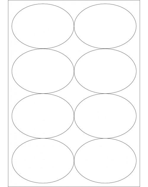 100 Planches d'étiquettes ovales 96mmx63mm
