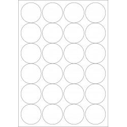 100 Planches d'étiquettes rondes diamètre 40mm