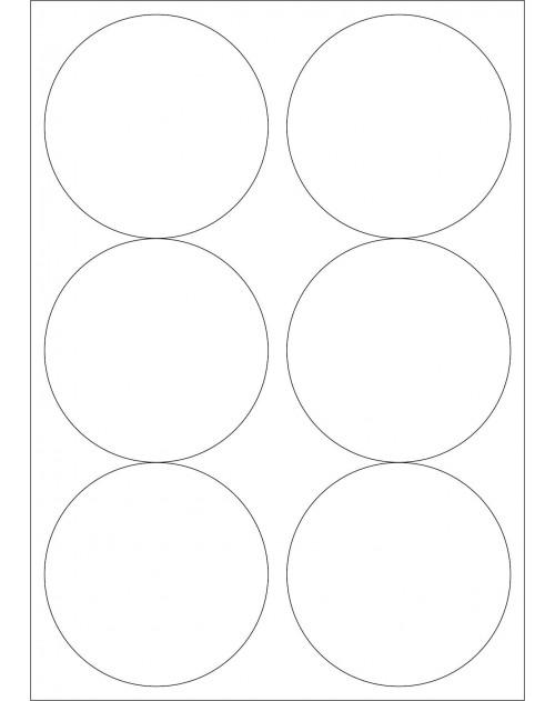 100 Planches d'étiquettes rondes diamètre 85mm