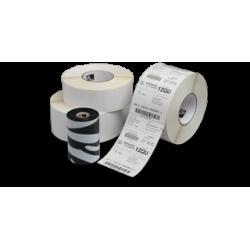 Carton de 12 rouleaux d'etiquettes polyester argent Zebra Z-Ultimate 3000T-76x76mm-Perm-25-127-930-12