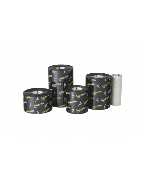 Carton de 10 rubans transfert thermique cire rehaussee de resine Inkanto AWXFH-110mmx450m-10I