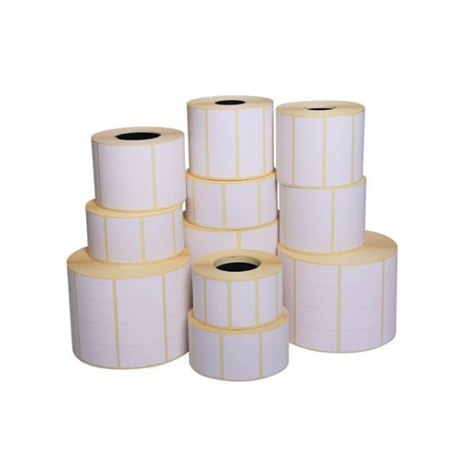 Carton de 12 rouleaux d'etiquettes thermique Zebra Z-Select 2000D*-76x25mm-Perm-25-127-2580-12