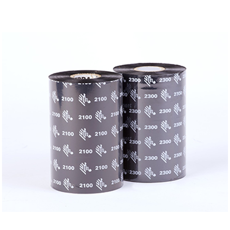 Carton de 12 rubans transfert thermique cire Zebra 2100-110mmx450m-12E