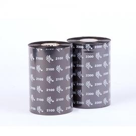 Carton de 12 rubans transfert thermique cire Zebra 2300-64mmx74m-12E