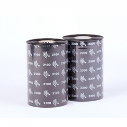 Carton de 12 rubans transfert thermique cire Zebra 2300-131mmx450m-12E