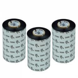Carton de 12 rubans transfert thermique cire-resine Zebra 3200-110mmx74m-12E