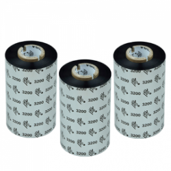 Carton de 12 rubans transfert thermique cire-resine Zebra 3200-64mmx74m-12E