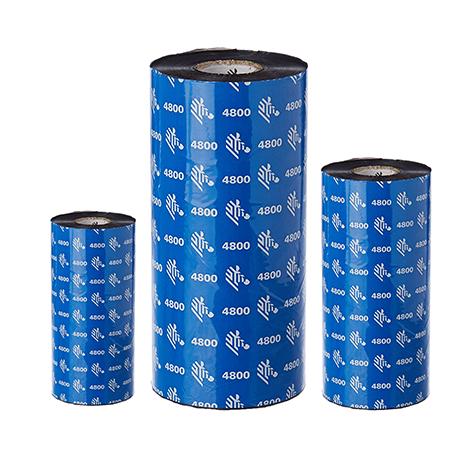 Carton de 12 rubans transfert thermique resine Zebra 4800-220mmx450m-12E