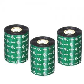 Carton de 12 rubans transfert thermique resine Zebra 5095-84mmx74m-12E