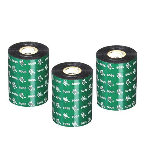 Carton de 6 rubans transfert thermique resine Zebra 5095-60mmx300m-6E