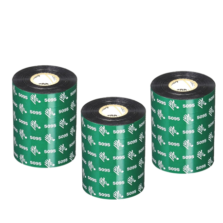 Carton de 6 rubans transfert thermique resine Zebra 5095-60mmx450m-6E