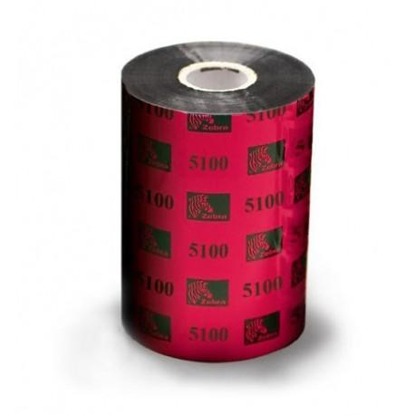 Carton de 6 rubans transfert thermique resine Zebra 5100-60mmx450m-6E