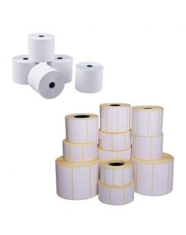 Bobines papier et étiquettes